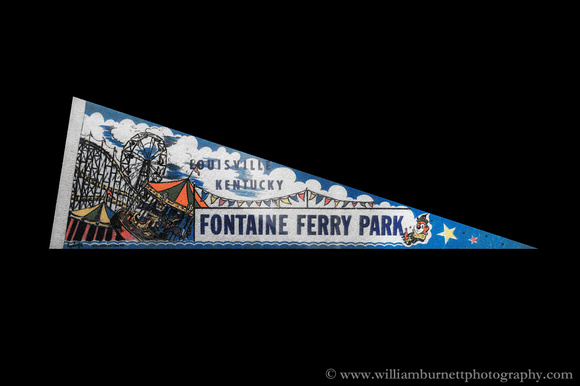 Fontaine Ferry Amusement Park Pennant